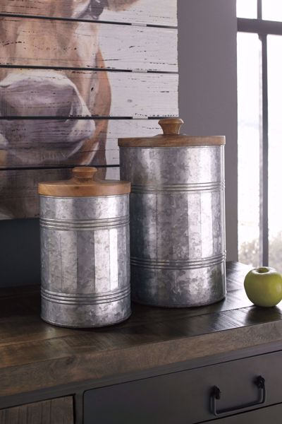 Picture of Divakar Antique Gray 2PC Jar Set