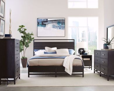 Picture of Thomas - Black Queen Panel Bed