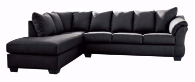 Picture of Darcy - Black RAF 2PC Sectional