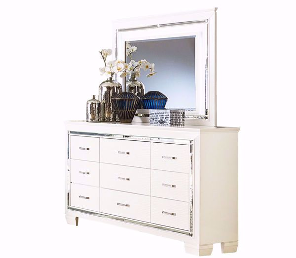 Picture of Allura - White Dresser & Mirror