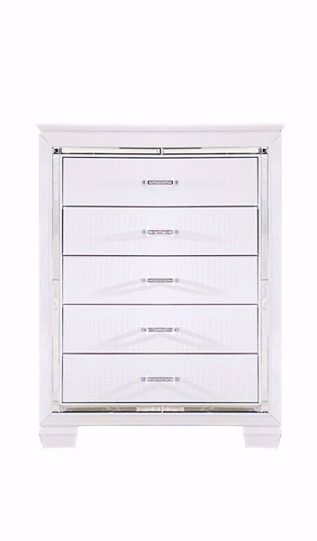 Picture of Allura - White 5 Drawer Chest