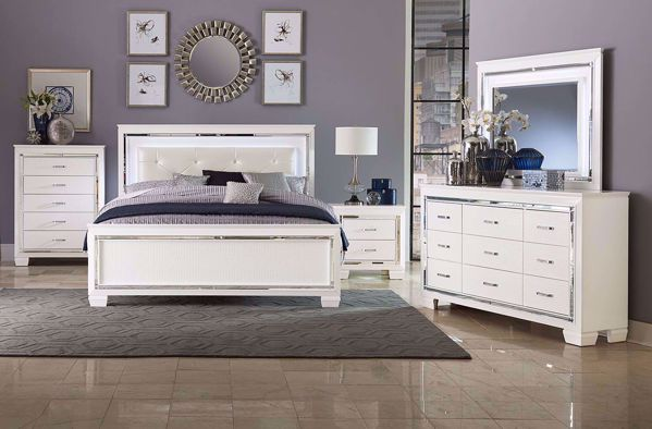 Picture of Allura - White Queen Bed W/LED