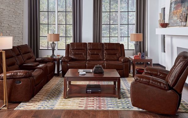Picture of Glove - Walnut Reclining Sofa