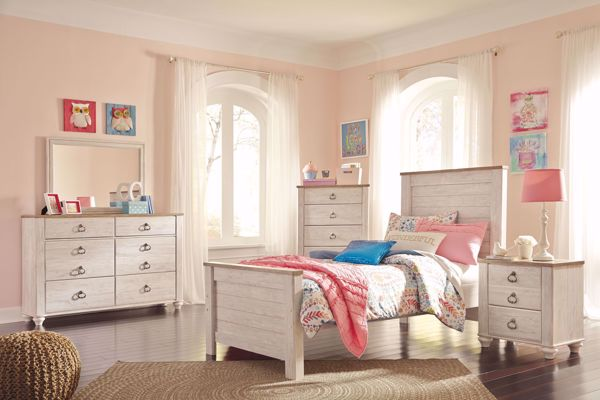 Picture of Willowton - White Twin Panel Bed