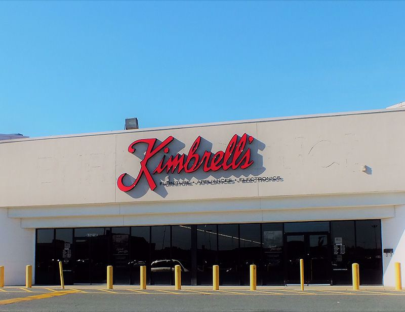 Entrance to Kimbrells Furniture in Albemarle, NC