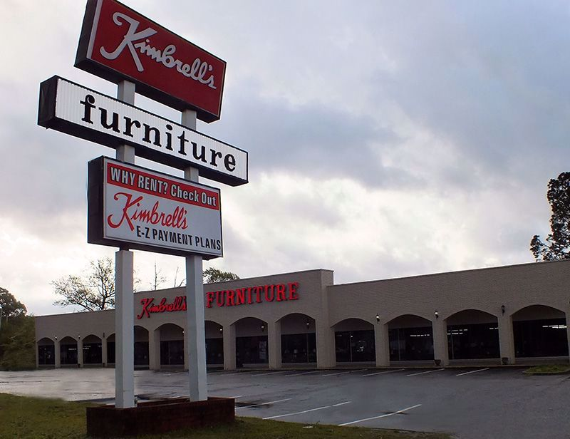 Entrance to Kimbrells  in Fayetteville, NC Raeford Rd