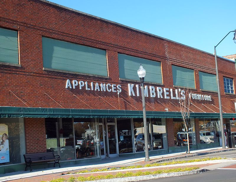 Entrance to Kimbrells in Sanford, NC