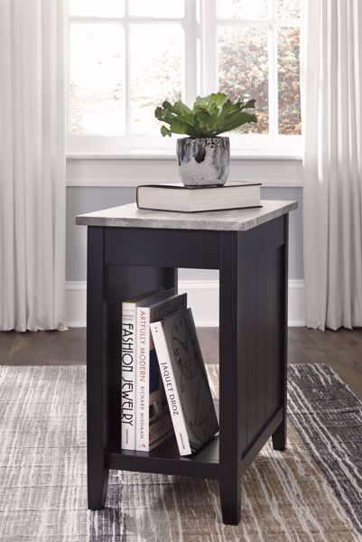 Picture of Diamenton - Black Marble Chairside Table
