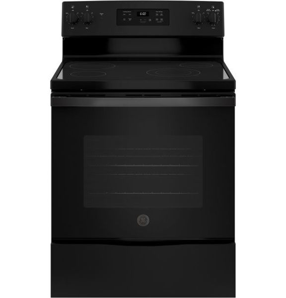 """Picture of 30"""" Black Smooth Top Range"""