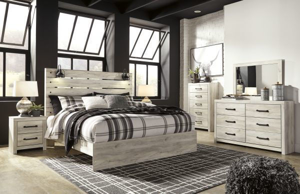 Picture of Cambeck - White King Panel Bed