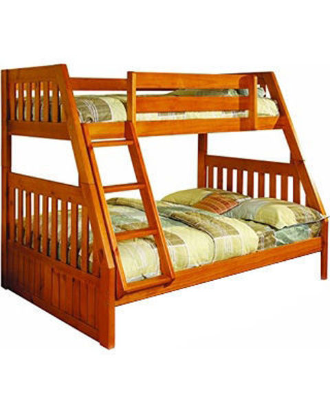 Picture of Honey Twin/Full Bunk Bed
