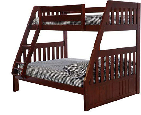 Picture of Merlot Twin/Full Bunk Bed