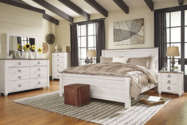 Willowton White King Panel Bed Kimbrell S Furniture