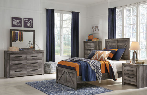 Picture of Wynnlow - Gray Twin Panel Bed