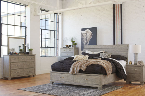 Picture of Naydell - Gray King Storage Bed