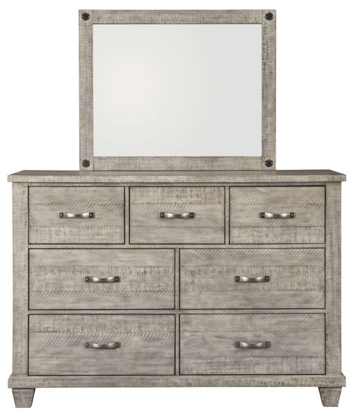 Picture of Naydell Gray Dresser & Mirror