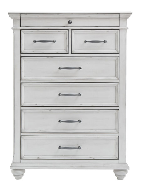 Picture of Kanwyn - White 5 Drawer Chest