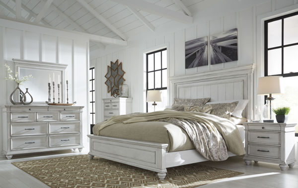 Picture of Kanwyn - White King Panel Bed