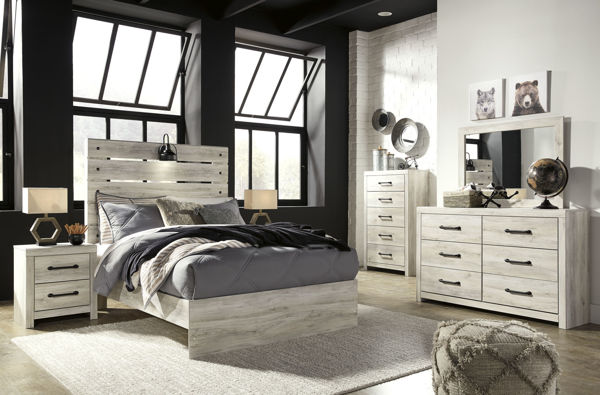 Picture of Cambeck - White Full Panel Bed