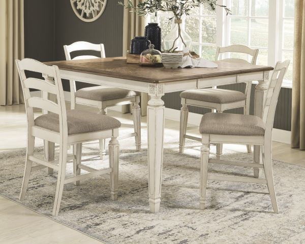 Picture of Realyn - Counter Height Table W/ 4 Barstools