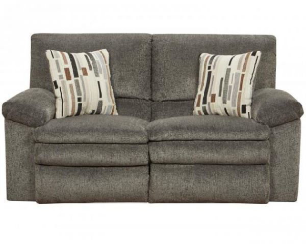 Picture of Tosh - Pewter Reclining Loveseat