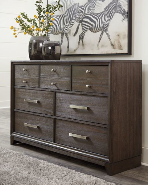 Picture of BRUEBAN GRAY DRESSER & MIRROR