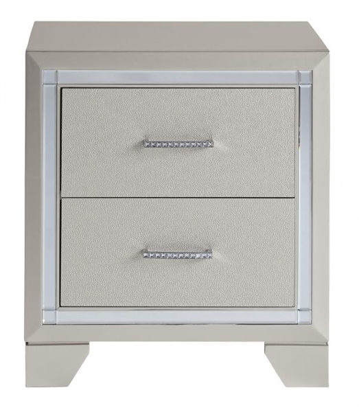 Picture of Lonnix - Silver 2 Drawer Night Stand