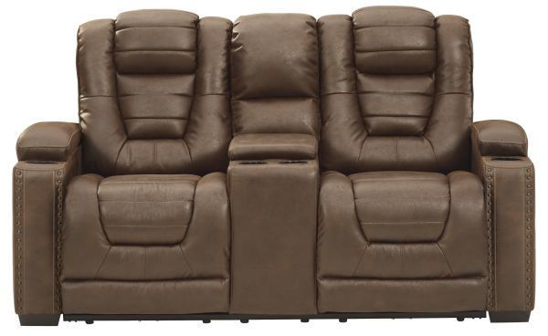 Picture of Owner's Box - Thyme Dual Power Reclining Loveseat