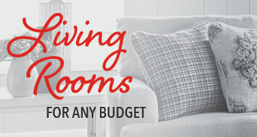 Living rooms for any budget