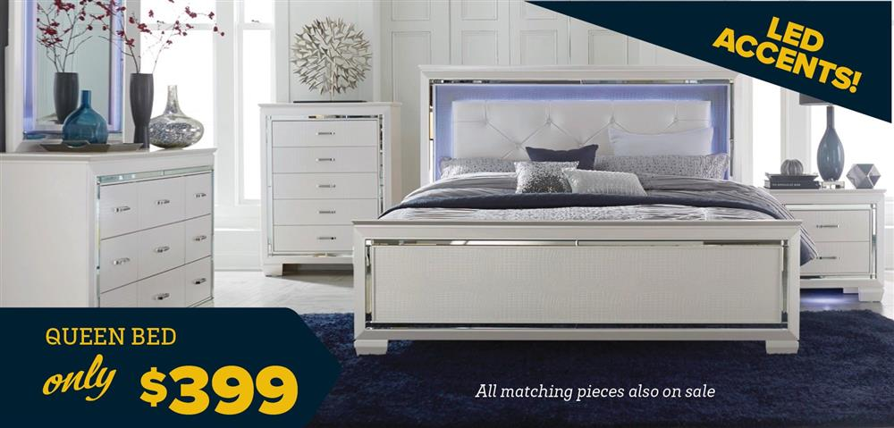 Queen Bed for $399!