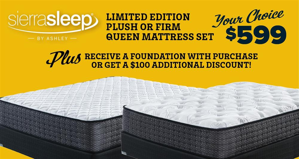 Queen Mattress set for $599!